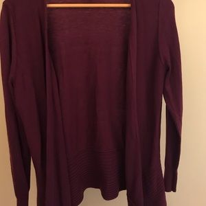 LOFT Deep Cranberry Cardigan